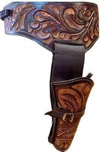- NEW 44/45 Cal Tooled Holster Gun Belt Drop Loop LEATHER Western RIG SASS 34