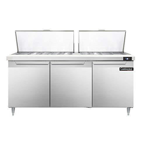 Continental Refrigerator DL72-27M Designer Line Mighty Top Sandwich Unit, 72