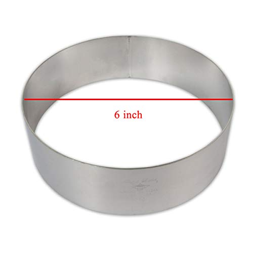 Prime Bakers and Moulders Round Steel Ring Cake Cut Outs Pizza Base Cutter – 6 inch Price & Reviews