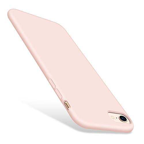 GUAGUA iPhone 8 Case iPhone 7 Case Liquid Silicone Gel Rubber Cover with Soft Microfiber Cloth Lining Cushion Slim Fit Lightweight Shockproof Protective Durable Phone Cases for iPhone 7/iPhone 8 Pink