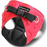 Comfort Fit Metric USA 6.3 x 8.8-Inch Dog Harness with Padded Interior and Exterior Cushioning for Small Dogs, Small, Red