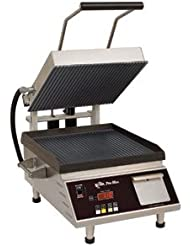 Star Pro Max Panini Grill 14 X14 Fixed Smooth Lower Grill CG14IEGT