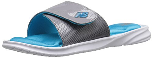 New Balance Women's Cruz II Slide Athletic Slide, White/Blue, 9 M US