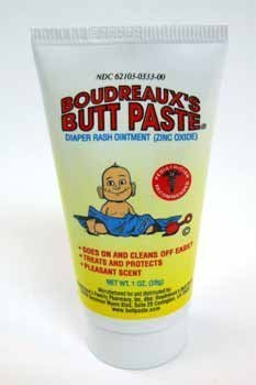 BOUDREAUX S BUTT PASTE diaper rash treatment, Box of 12- 1 oz Tubes by Boudreauxs