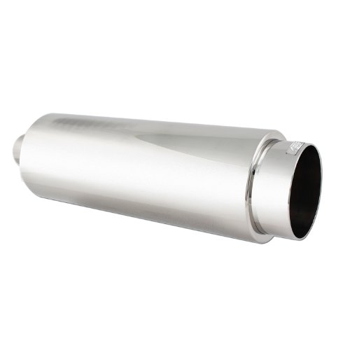 DC Sport EX-5012 Stainless Steel Round Muffler and Exhaust Tip