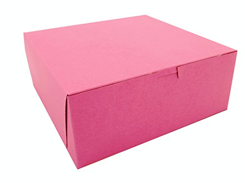 Southern Champion Tray 0873 Pink Paperboard Non-Window Lock-Corner Bakery Box, 10'' Length x 10'' Width x 4'' Height (Case of 100) by Southern Champion Tray (Image #3)