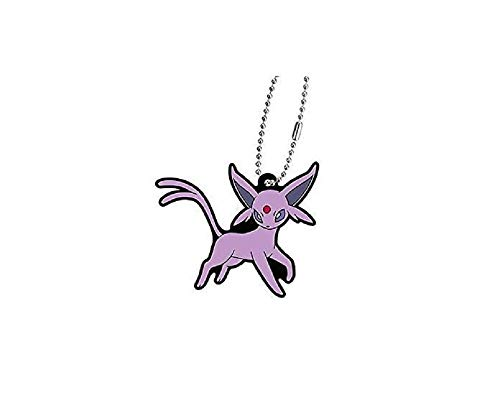 Bandai Pokemon Eevee Evolution Espeon Eifie Character Gacha Capsule Rubber Key Chain Mascot Collection Anime Art