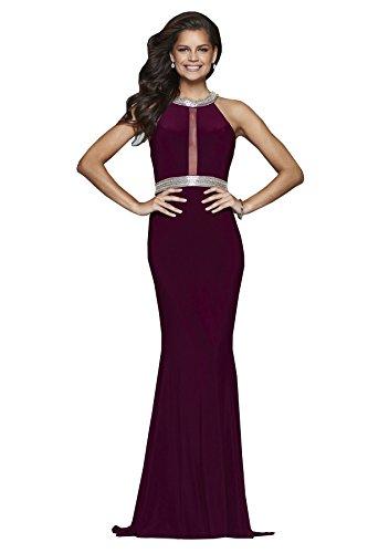 Faviana Style 7910 Bordeaux, Size 12