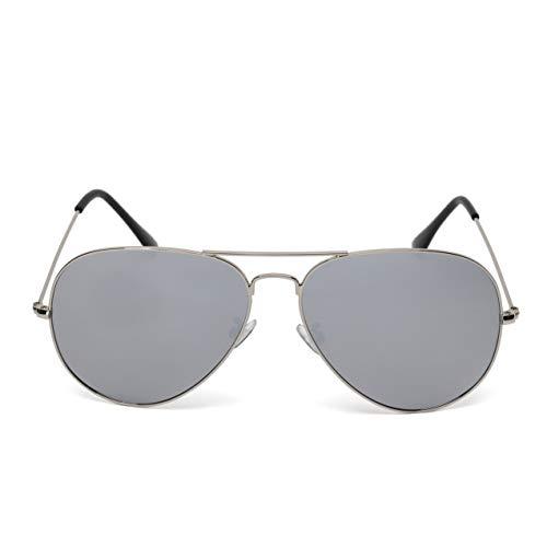 (Shayee Polarized Aviator Sunglasses for Women and Men, Classic Pilot Style Glasses-UV 400 (silver frame-silver mirrored lenses))