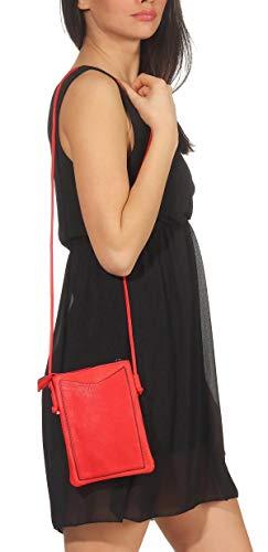 Tracolla Donna Malito Borsetta Tasca Piccola Borsa T2460 2 Moda Rosso wYAqdArx5