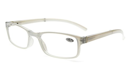 Eyekepper Unique Spring Hinges Folding Reading Glasses White +0.75