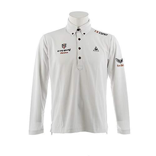 [ルコックゴルフ] le coq sportif GOLF COLECTION ボタンダウン長袖ポロシャツ メンズ QGMMJB02 吸汗速乾 UVカット 2018年秋冬
