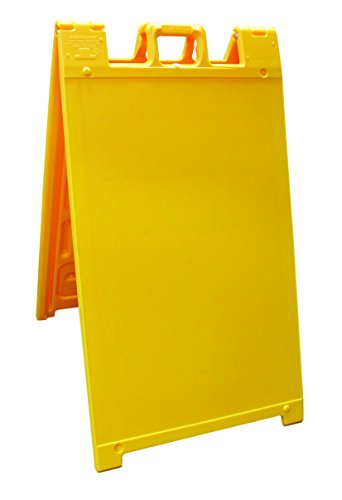 """Plasticade Signicade Curb Sign / A-Frame Sign for 24x36"""" Sign. Color: Yellow."""