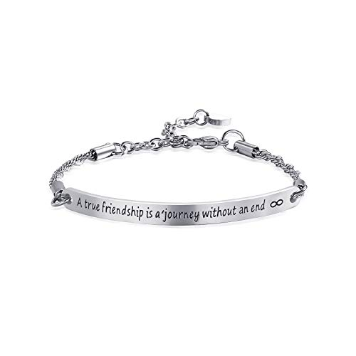 (ivyAnan Friendship Bracelet Engraved Message