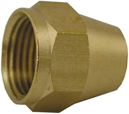 Pack of 5 3//16-inch Brass Short Flare Nut
