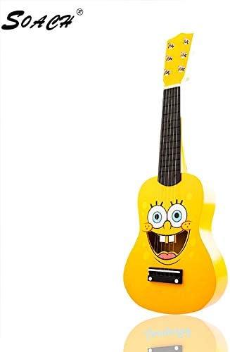 Guitarra acústica de madera de Bob Esponja para principiantes, 6 ...