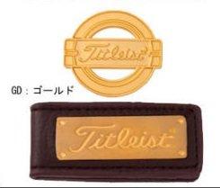 [ titlist ]ベルトクリップゴルフマーカーwithソフトケース色:ゴールド日本から   B01IHV1N72