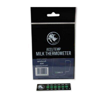 (Rhino Milk Coffee Thermometer Sticker - Accutemp Adhesive Thermometer for Milk, Coffee)