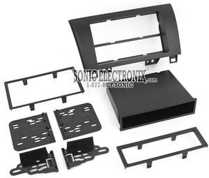 Metra 99-8220 Single/Double DIN Installation Kit for 2007-2009 Toyota Tundra/Sequoia, Standard Black