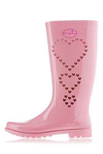 WoMen MEI 5 Pink Size UK Boots Wellington rrxUnq1d