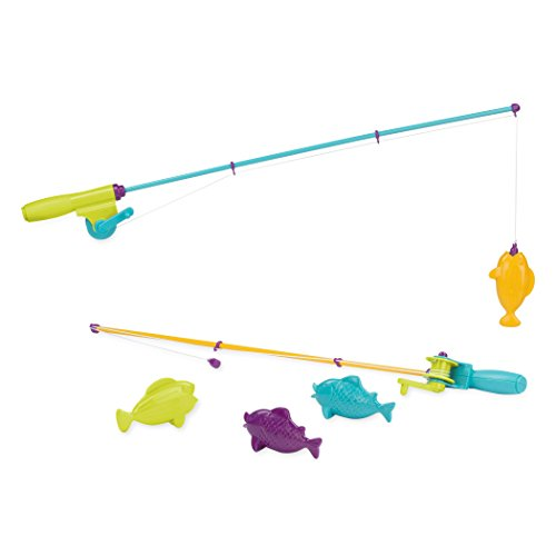 Battat - Magnetic Fishing Set - Outdoor Toys Fishing Game with 2 Magnetic Rods & 4 Fish for Kids 3 Years+ -