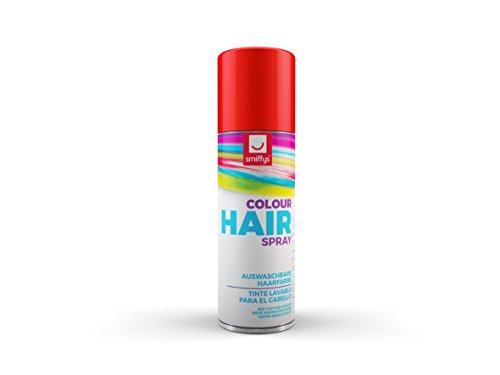 Smiffys-Spray de Color para Pelo, Rojo, 125ml, r (052R)