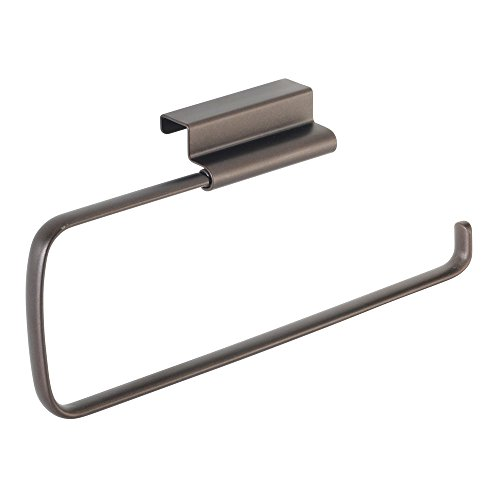 InterDesign Axis Over The Cabinet Paper Towel Holder, Bronze