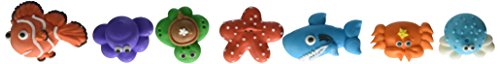Cakesupplyshop Item#786h- Edible Sea Critters Fish Turtle Crab Royal Icing Assorted Sugars Cake Decoration - 12 Pieces
