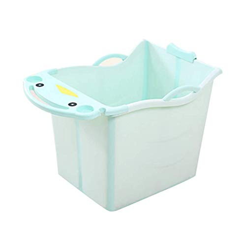 LVLUOYE Baby Products Foldable Tub Baby Can Sit in The Tub Tub Bath Tub Thickened Bath Tub (Color : Pink)-Green