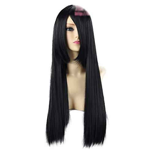 HOOLAZA Black Long Straight Cosplay Wig Gintama Katsura Kotarou Final Fantasy VII Tifa Lockhart Akiyama Mio Cosplay Wig
