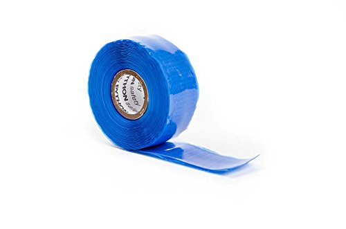 Python QW-HDBLU1X2-10PK 10 Rolls Quick Wrap Heavy Duty Tape, 1'', Blue