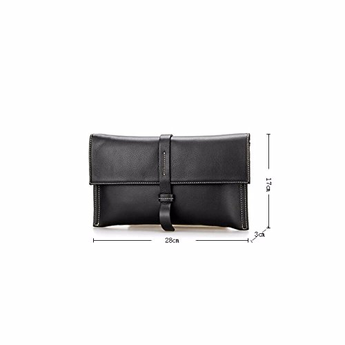 Bag Multifunctional New Clutch Messenger Leather Casual Black Envelope Bag 2018 black dwI8qYY7fx