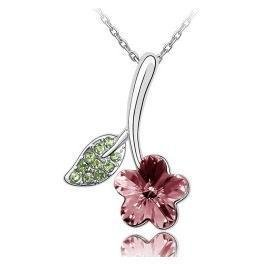usongs Let you meet me as flowers red plum blossom necklace pendant coffee women girls fashion ?????