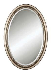 Uttermost Petite Manhattan Oval Mirror 1 x 21.25 x 31.25, Champagne Silver, 18W x 28H, ()