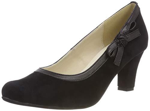 Fermé Hirschkogel schwarz 002 Noir 3006856 Bout Femme Escarpins qt8wtZ