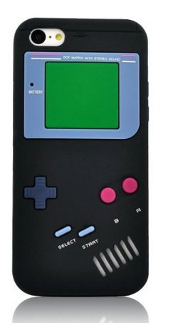 iPhone 6S Case,6S Case,Newstore Retro Design 3D Game Boy Gameboy Style Soft Silicone Cover Case for Apple iPhone 6S 4.7 inch with A Free Packing with Newstore Trademark Gifts (Black)