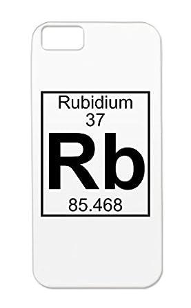 Element 37 Rb Rubidium Full Black For Iphone 5c Chemist Nerd