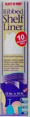 "Warp'S Plast O Mat Shelf Liner Ribbed 12"" W X 10ft. L Non Adhesive White"