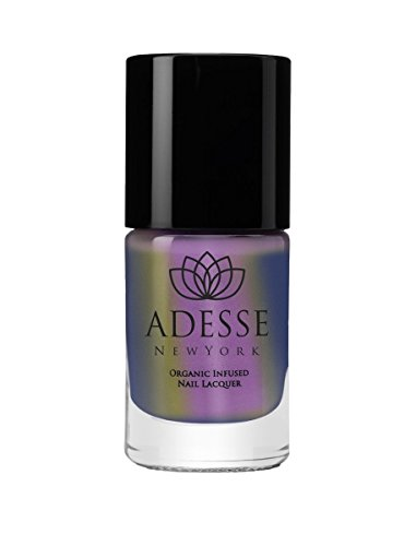 (Adesse New York Organic Infused Liquid Chrome Nail Polish, Fast Drying & Chip Resistant Polish, Ultra Long Wear, For a Shimmer perfect Manicure Vegan, Cruelty Free, Paraben Free-11ml (Grand Central))