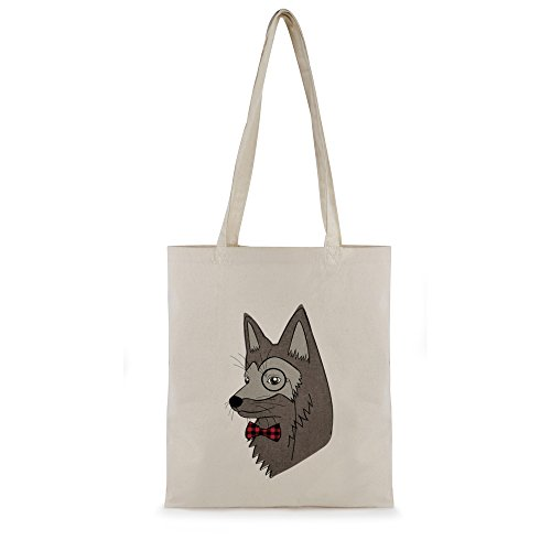 Sac de courses Zest pour femme en toile de coton imprimé Brown Fox