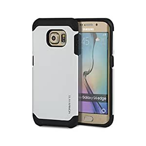 DD 20150511 2 in 1 Armour Protetive Back Case with Screen Protector for Samsung Galaxy S6 Edge(Assorted Colors) , Gray