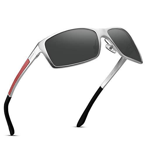 SOXICK Polarized Sunglasses For Men Driving - Lightweight Adjustable Rectangular Sun Glasses