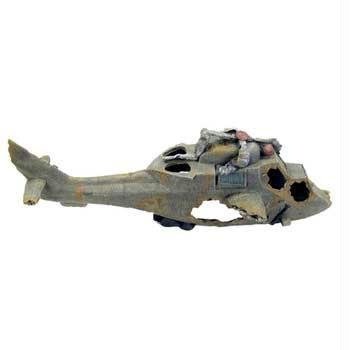 Deep Blue Professional ADB80306 Crashed Helicopter Synthetic Coral for Aquarium, 24-Inch