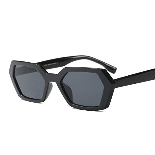 (ailov Hexagonal Geometric Sunglasses for Women Men Statement UV400 Protection (Black))
