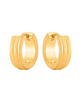 b7a7e42639bdb Dare By Voylla Stainless Steel Earring With Yellow Gold Plating For ...