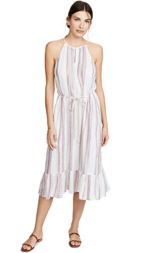 - Velvet by Graham & Spencer Women's Audes Lurex Stripe Dress, Multi, M