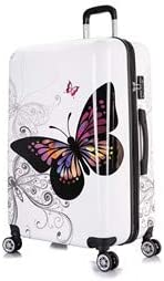 InUSA PRINTS Luggage Lightweight Hardside Spinner 28 inch – Butterfly