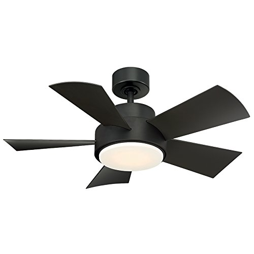 Elf Indoor Outdoor 5-Blade Smart Ceiling Fan 38in Bronze with 3000K LED Light Kit and Wall Control works with iOS Android, Alexa, Google Assistant, Samsung SmartThings, and Ecobee