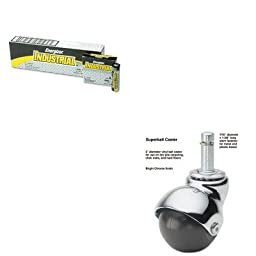 KITEVEEN91MAS50713 - Value Kit - Master Caster Superball Casters (MAS50713) and Energizer Industrial Alkaline Batteries (EVEEN91)