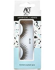 Art 2C - Herbruikbare synthetische kunstwimpers, kwaliteitsproduct, lang en zwart, veilig voor natuurlijke wimpers - S013